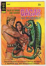 Dagar the invincible #6 1974 Gold Key VG MARK JEWELERS VARIANT sword and sorcery