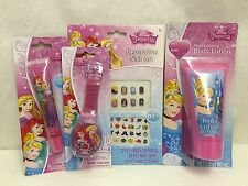 Disney Princess Gift Set Accessories Lip Gloss Lotion Nail Art Birthday Xmas