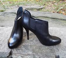 GUESS ANKLE BOOTS, NWOB Black Leather Platform High Heels, WGMIST Booties 8.5M
