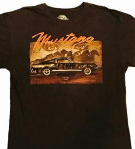 Classic Ford Mustang Fastback Brown T-Shirt * New In Bag * Rare * Free USA Ship!