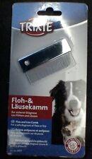 New 2401 - Trixie Metal Pet Dog Cat Dust - Flea - Nit - Dirt Comb