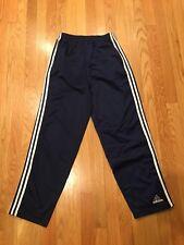 Vtg Adidas Silky Tear Away Soccer Track Gym Pants 3 Stripes Men's Small S Blue