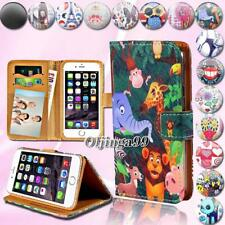 For Apple iPhone 345678/Itouch 3456 - Leather Wallet Card Stand Flip Case Cover