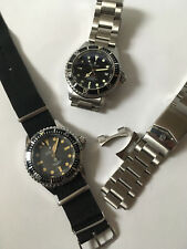 2 STEINHART OCEAN ONE AUTOMATIC WRIST WATCHES RED SUBMERSIBLE 1000 & HOMAGE VINT
