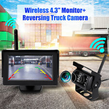 """Wireless IR Rear View Back up Camera Night Vision System + 4.3"""" Monitor RV Truck"""