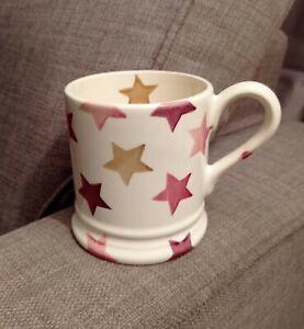 Emma Bridgewater Pink And Gold Stars Mug half pint brand new