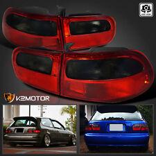 For 92-95 Honda Civic 3Dr Hatchback EG EH EJ Red/Smoke Rear Brake Tail Lights
