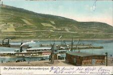 Rüdesheim (Rhein) Dampfer-Anlegestelle Niederwalddenkmal 1900