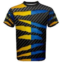 Ukraine Pattern Ukrainian kiev Flag Beast Ripped Pattern Men's T-shirt Tees BV5