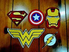 5x Superhero Superman Iron Man Embroidered Patches Applique Badge Iron Sew On