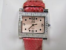Nolan Miller Red Leather Band Watch