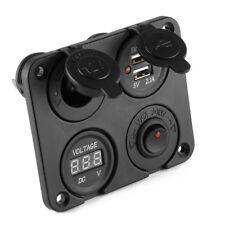 12V Auto KFZ Einbau Motorrad USB Zigarettenanzünder Steckdose Ladegerät MA1065