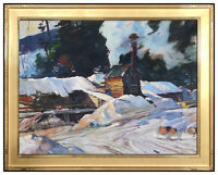Aldro Hibbard Original Oil Painting On Canvas Signed Vermont Winter Landscape AT