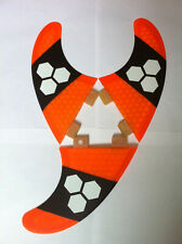 SURFBOARD FINS Honeycomb FCS Fit Surf Fin,G5/M5 Thruster Set Of 3 Orange Hexcore