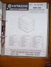 manuel de Service pour Hitachi HRD-300 HiFi système original