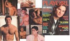 PLAYGIRL 3-84 DJs KURT RUSSELL HAIRY CANADA MEN PAUL NEWMAN BLOND MARCH 1984