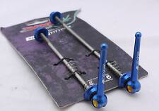 Titanium Quick Release Skewer SET TI AXLE 44g PAIR BLUE ROAD BIKE