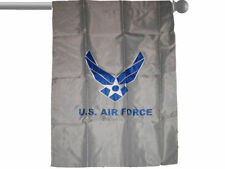"""EMBROIDERED AIR FORCE WINGS GREY GARDEN BANNER/FLAG 28""""X40"""" SLEEVED"""