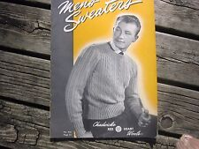 Vintage Men's Sweaters Book 240 1947 Spool Cotton Chadwick's Red Heart Wools