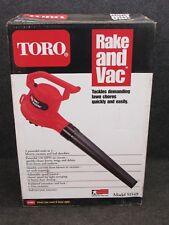 NEW! TORO RAKE & VAC ELECTRIC LEAF BLOWER, 150 MPH, 51549