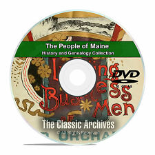 Maine ME, People, Cities and Towns, History and Genealogy 121 Books DVD CD B04