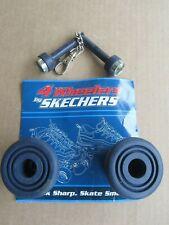 D168 Skechers Sport 4 Wheelers Rubber Skate Replacement Toe/wheel stops, Black