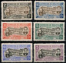 Bolivia 1946 SG#445-450 Himno Nacional MH Set #D39435