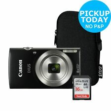 Canon IXUS 185 20MP 8x Zoom 2.7 Inch LCD Compact Digital Camera Bundle - Argos