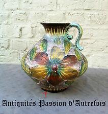 B20150540 - Gros vase pichet en faïence H.Bequet - Quaregnon - Belgique