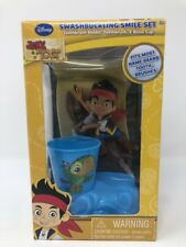 Disney Jake Never Land Pirates Smile Set Toothbrush with Holder Rinse Cup New