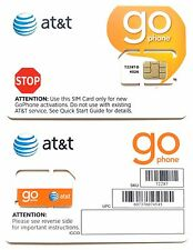 AT&T Go Phone Sim Card Prepaid SKU 72287 - New Never Activated **FREE SHIPPING**