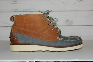 Sebago Ronnie Fieg Iroquois Lux Men's Chambray Brown Size 10.5 Shoes