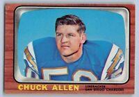 1966 Topps CHUCK ALLEN - Football Card # 118 - SAN DIEGO CHARGERS