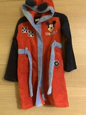 Disney Store Boys Mickey Mouse Soft Dressing Gown 5 6 Years ❤️