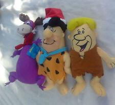 Lot of Flintstones ~ Fred Barney Dino ~ Plush Doll Figures Toy