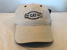 CAT Caterpillar Baseball Hat Cap Tan EST. 1904 Construction Machinery Unique NWT