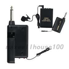 Wireless Cordless Clip-on Microphone Mic Transmitter+Mic Receiver Transmitter