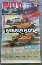 Vintage Menards 1996 Indy Racing calendar Unser, Cheever,  Luyendyk