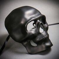 Black Full Face Scary Halloween Skull Mask Ghost Skeleton Masquerade Cosplay