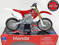 Honda CRF 450 - 1:12 Die-Cast Motocross Mx Motorbike Toy Model Bike Red New Ray