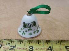 Royal Tara ~ Galway Ireland ~ Porcelain Shamrock Ornamental Bell Mini