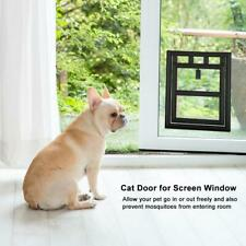 Pet Cat Puppy Dog Magnetic Lock Lockable Safe Flap Door for Screen Window Gate