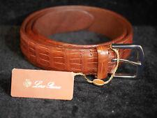 LORO PIANA Mens Crocodile/Aligator Russel-Belt Size 90cm / 36  $1750 NEW
