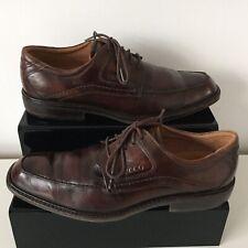 Ecco Melbourne Homme en Cuir Mat Chaussures En Marron