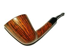 TEDDY KNUDSEN Eagle Grade Bent Dublin Pipe Flame Straight Grain PHENOMENAL