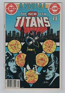 DC 1983 NEW TEEN TITANS ANNUAL No. 2 VF 8.0 1st Vigilante in Costume & 1st Lyla