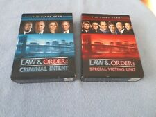 Law & Order: Special Victims Unit & Criminal Intent -The First Year (2 DVD SETS)