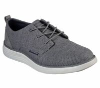 Skechers shoes Gray Men Memory Foam Casual Comfort Soft Woven Mesh Oxford 65900
