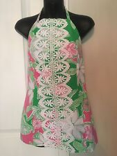 Lilly Pulitzer Ladies Pink Green Halter Top Size 10 - EUC!!!