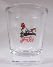 Pepsi-Cola Pete Logo on Clear Shot Glass